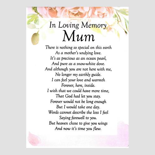 Pink Mum Grave Card