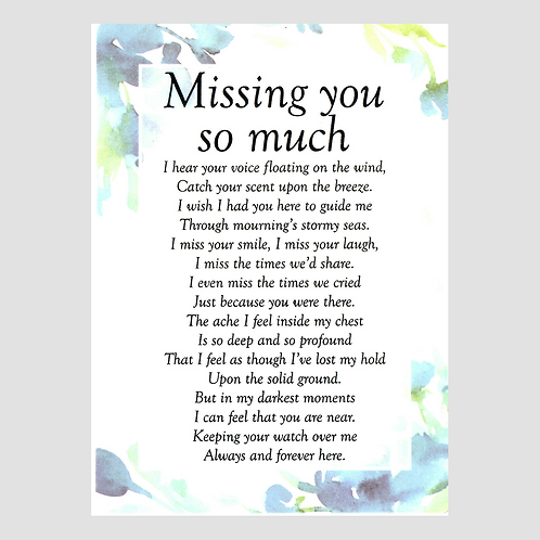 Missing You Grave Card