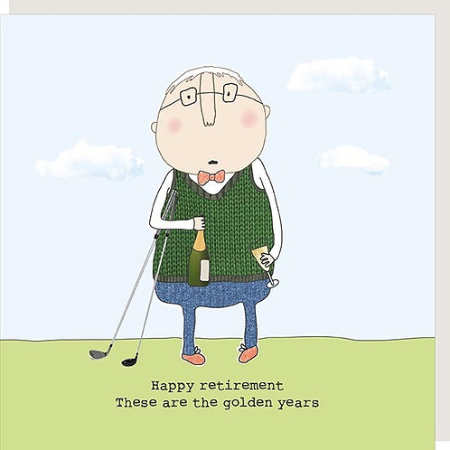 Golden Years Golf Retirement Card