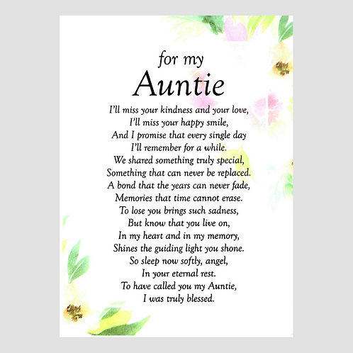 Auntie Grave Card