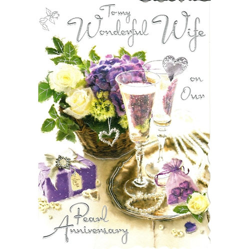WIFE Pearl Anniversary Card