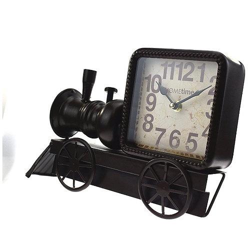 Black Locomotive Mantel Clock