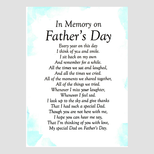 Fathers Day Grave Card
