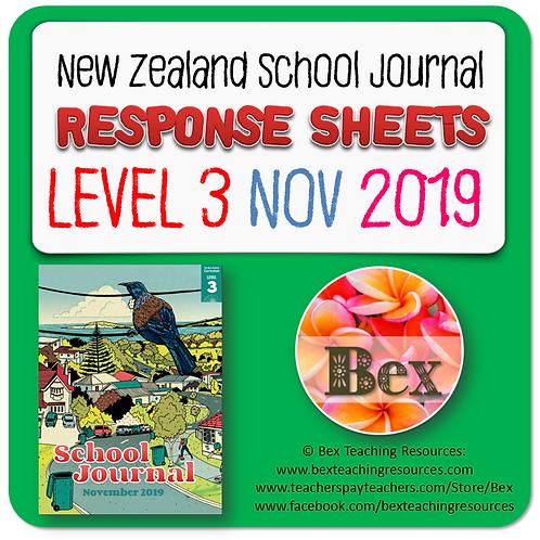 NZ School Journal Responses - Level 3 November 2019