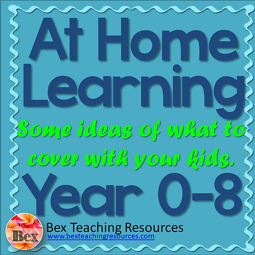 At Home Learning - Some ideas of what to cover with your kids. Year 0-8