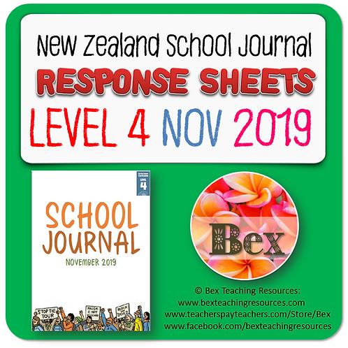 NZ School Journal Responses - Level 4 November 2019