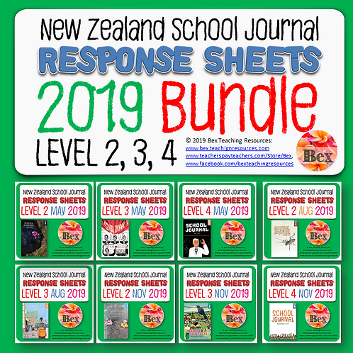 NZ School Journal Responses - 2019 Bundle - Level 2 - 4