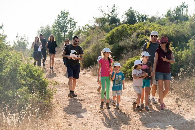 ניווט משפחות ביער חוף הכרמל