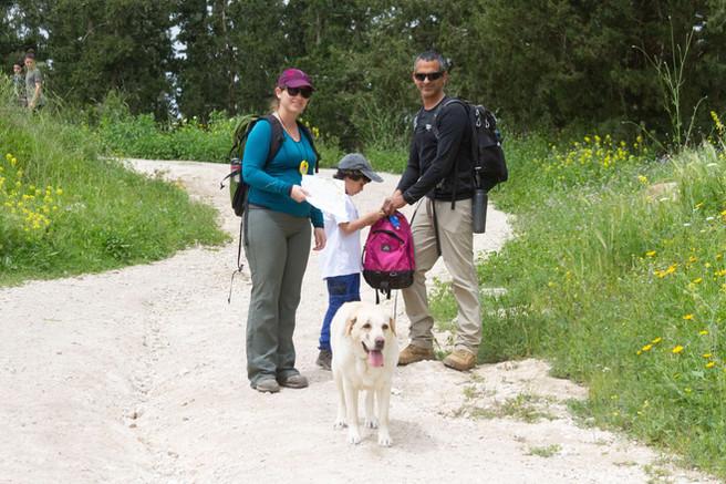 ניווט כלבים ביער מגידו