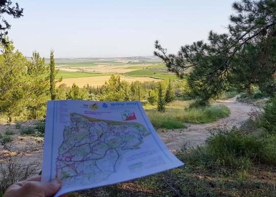 מפת ניווט יער אשתאול