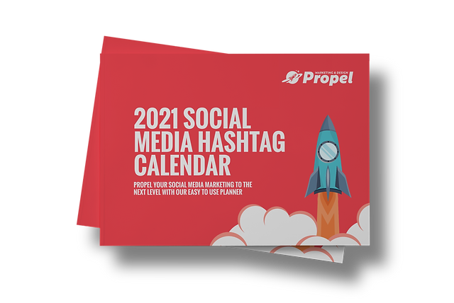 2021 Social media Hashtag Calendar with