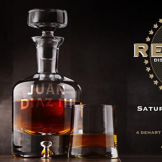 Bourbon Themed Birthday Invite