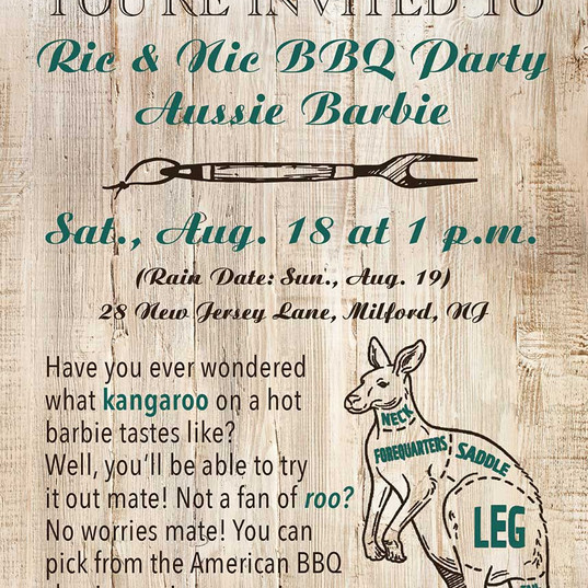 Themed BBQ Party Invite Card