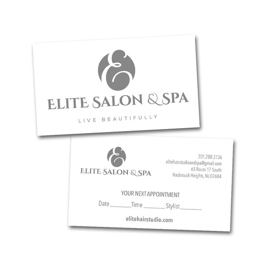 Elite Salon & Spa Business Card