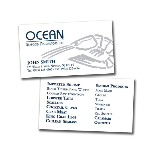 Ocean Seafood Business Card