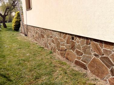 hnědý obkladový kámen, přírodní kámen, balkánská rula