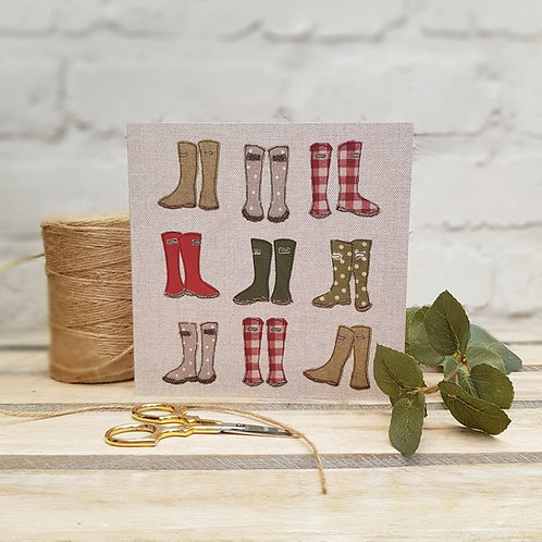 Collection of Wellies Greetings Card