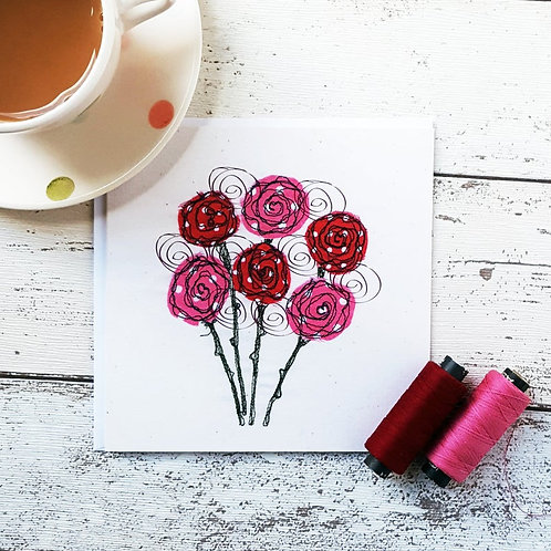 Lollipop Roses Card