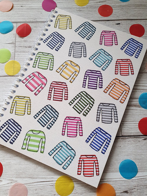 Stripy Top Notebook