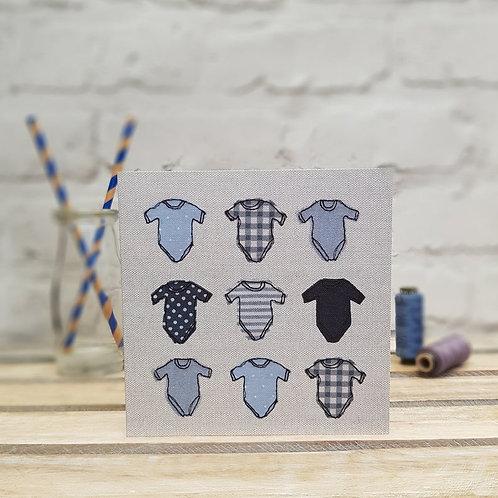 Blue Babygrow Card