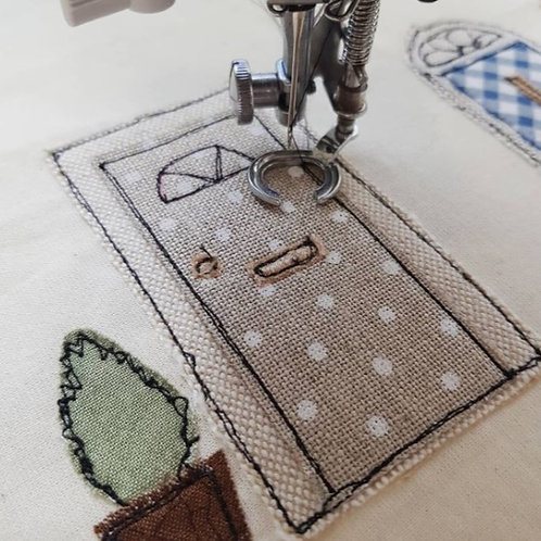 Sun 27th June 10.30am Online Beginners Freehand Machine Embroidery Work