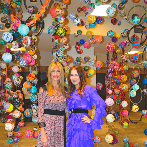 Miami Art Mob - Our curator Savannah Herschman and friend