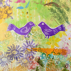 Purple Love Birds