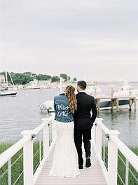 beautiful bride and groom first look photos at their seaside Duxbury, Massachusetts wedding