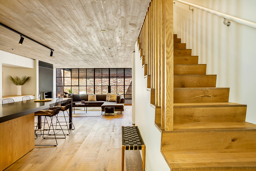 Stone and timber flooring
