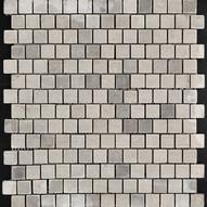Dove Grey Marble Mosaic bricked