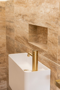 Terra Vein Travertine bathroom