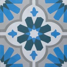 Encaustic - blue design