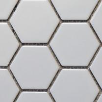 Matt white hexagon