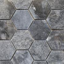Bluestone polished hexagon