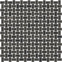 Petra noire mosaico intreccio