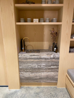 Silver stone slab