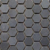 Black Basalt honed hexagon
