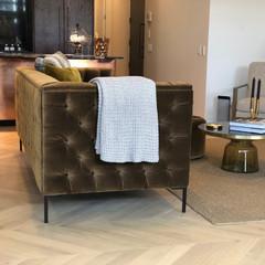 Raw Oiled Chevron Timber Flooring