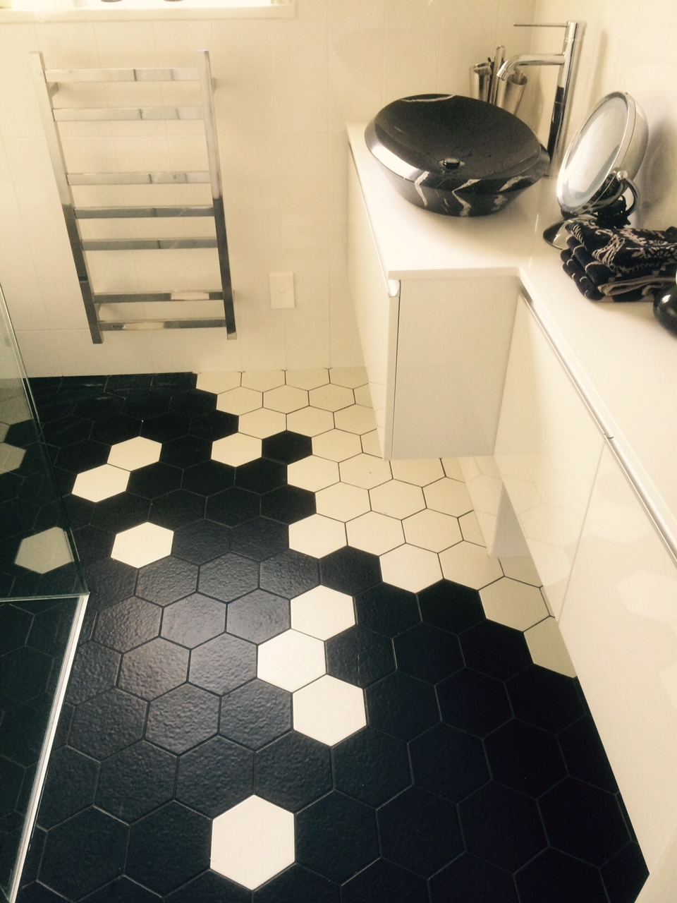 Black and white Hex Tiles