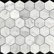 Carrara Hex Marble Mosaic