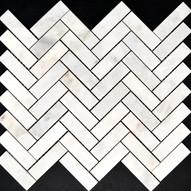 Biello Herringbone Marble Mosaic