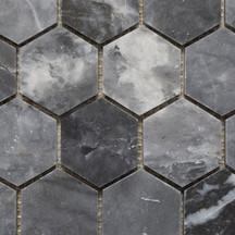 Azzuro honed hexagon