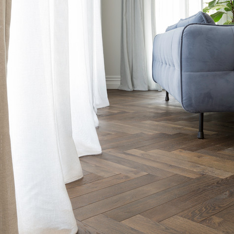 Marrone Herringbone Parquet Floors