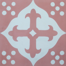 Encaustic - pink and white
