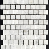 Carrara Marble Mosaic 30x30 brick