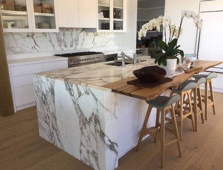 How to use stone slabs as a focal point in your home!