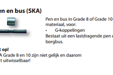 Gunnebo pen en bus SKA