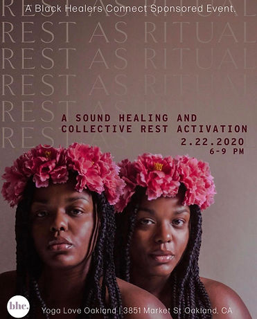 Black Healers Connect Sound Healing and Collective Rest Activation