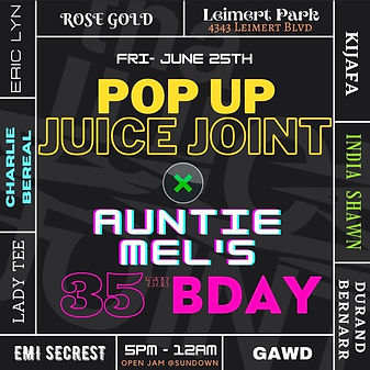 Tha Juice Joint Pop Up
