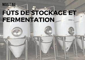 fûts de stockage et fermentation